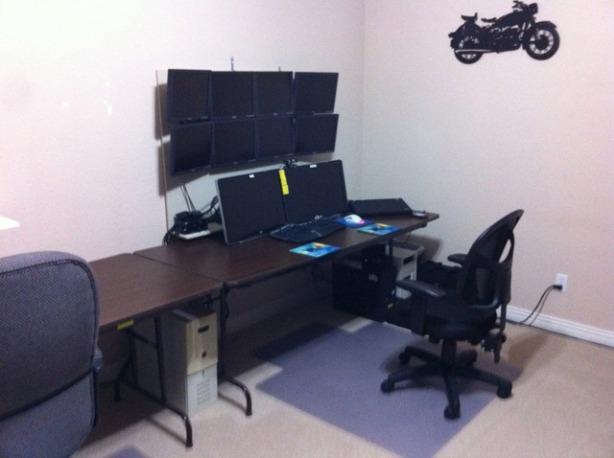 build multiple monitor computer desk diy pdf wood casters. Black Bedroom Furniture Sets. Home Design Ideas